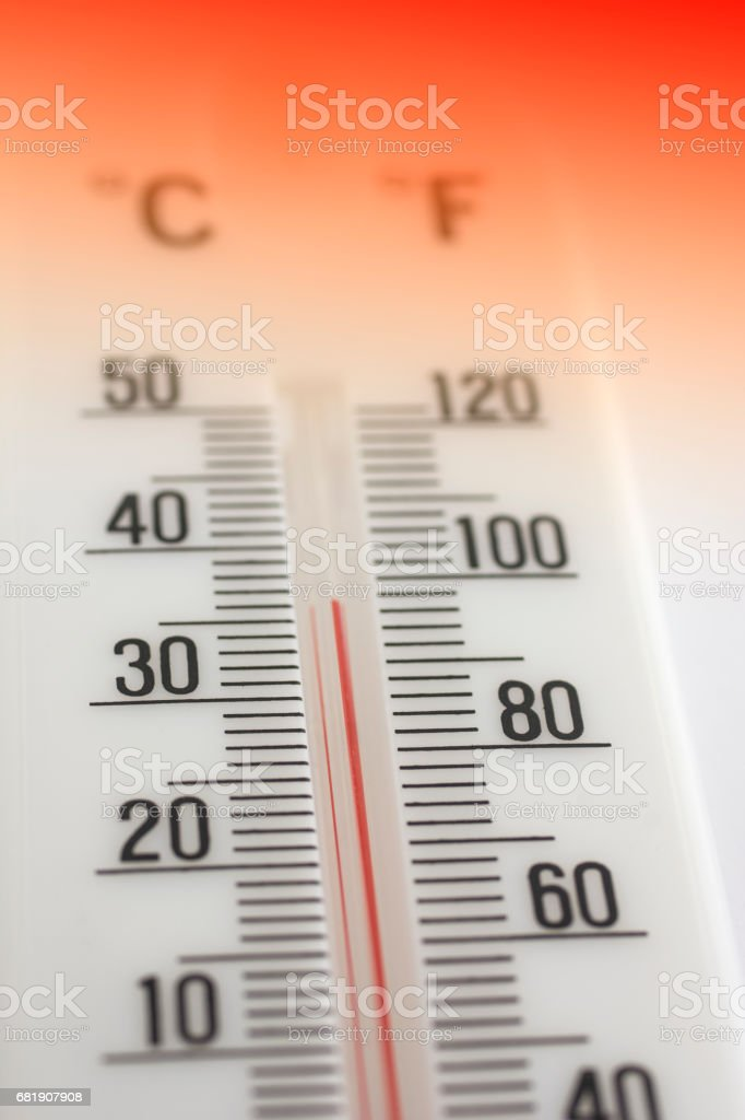 Thermometer hot stock photo