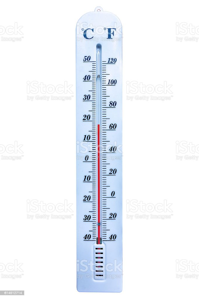 Thermometer isolated on white background stock photo