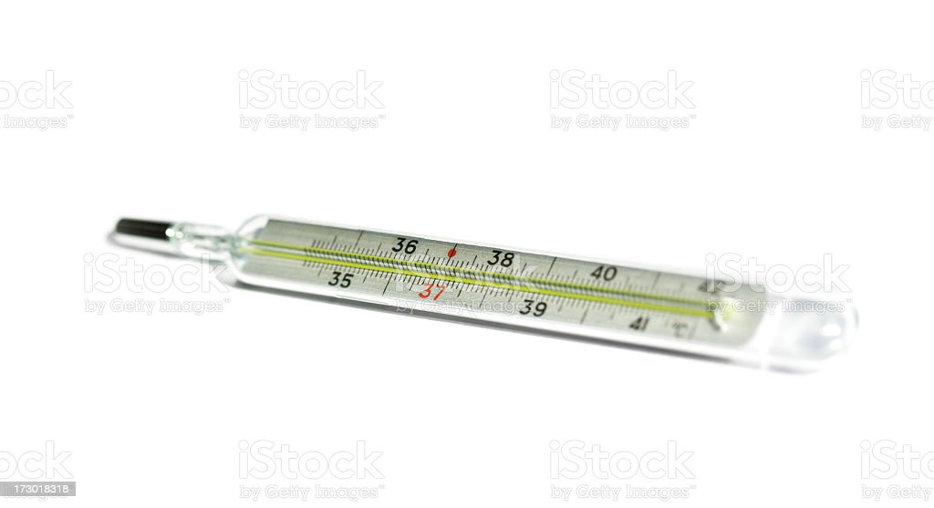 Thermometer isolated on white. royalty-free stock photo