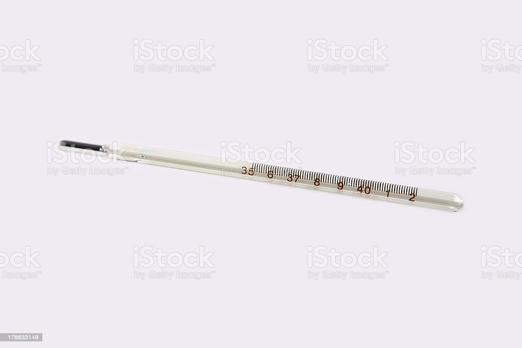 thermometer on white background royalty-free stock photo