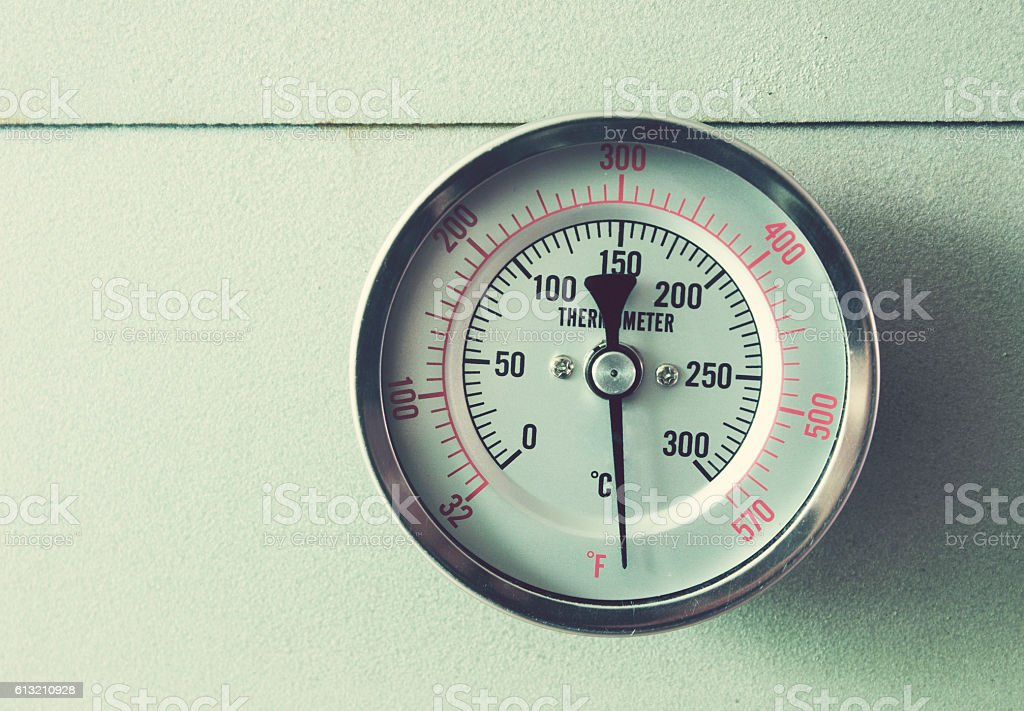 Thermometer oven baking stock photo