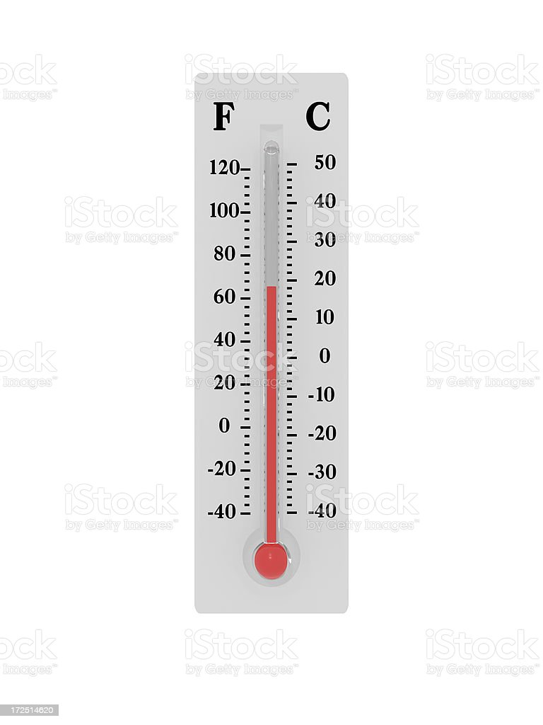 Thermometer - Room Temperature royalty-free stock photo
