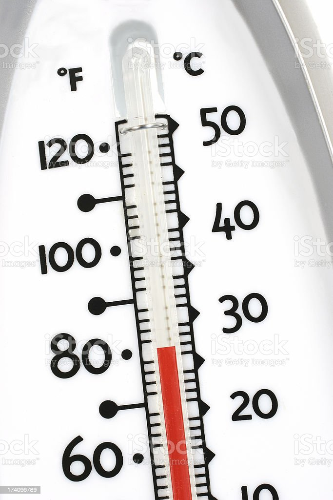 Thermometer showingTemperature stock photo