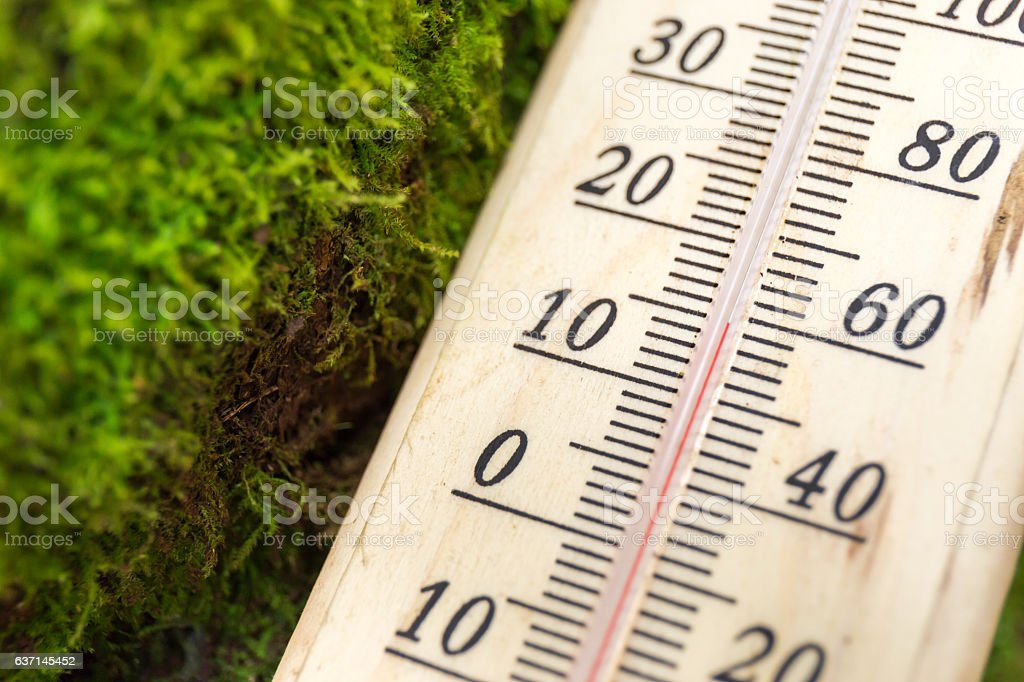 thermometer with cold temperature stock photo