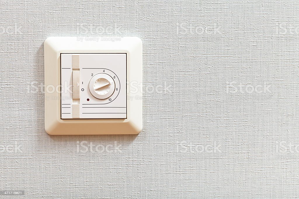 thermoregulator of electric heating floor royalty-free stock photo
