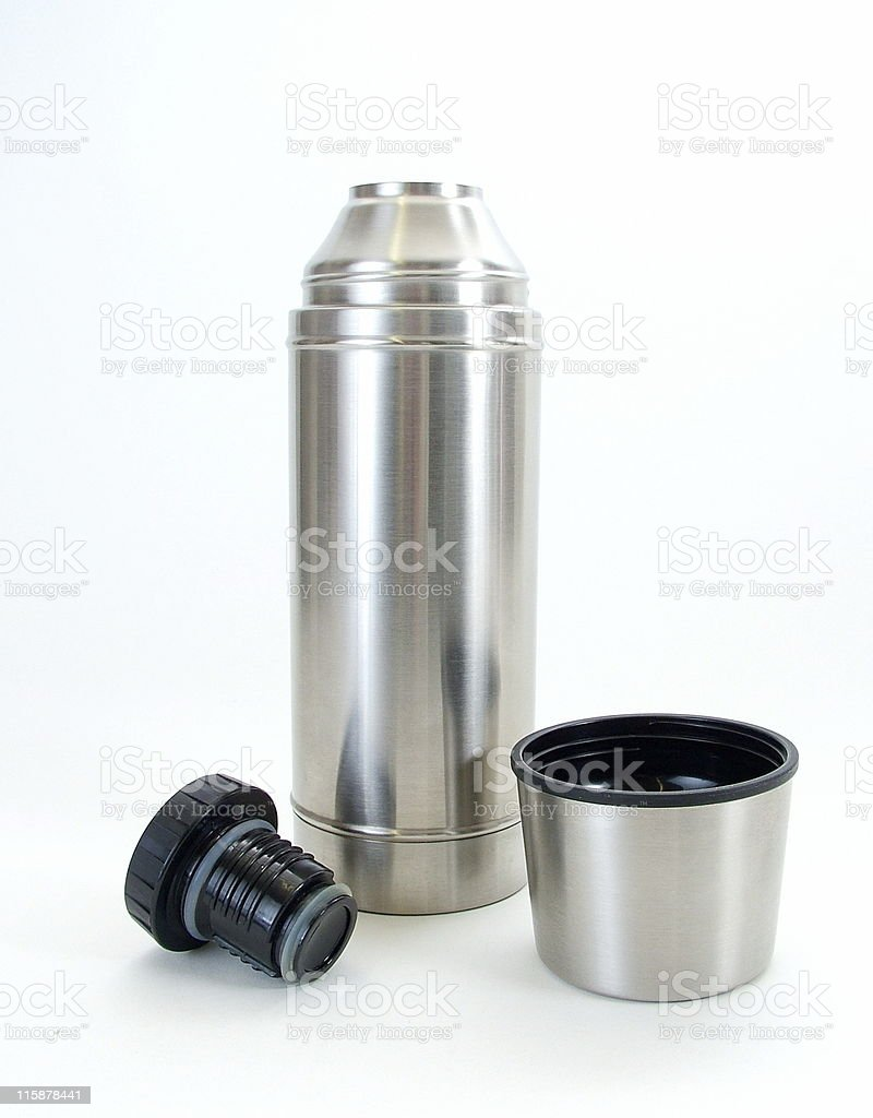 Thermos Flask Opened royalty-free stock photo