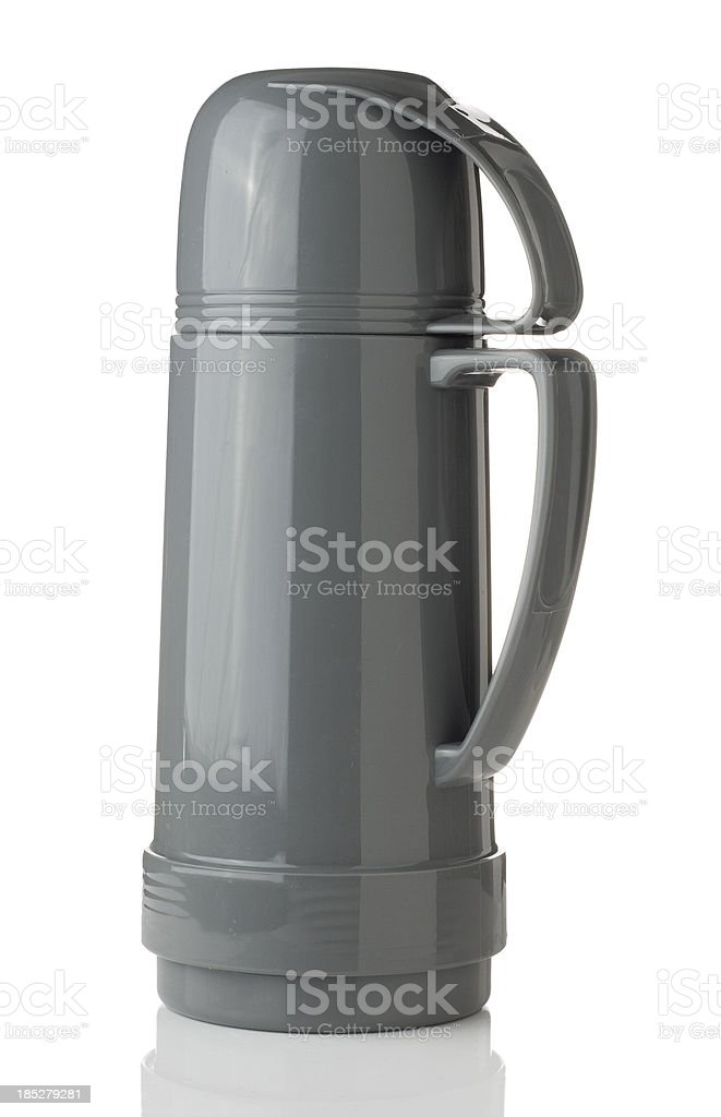 Thermos flask stock photo