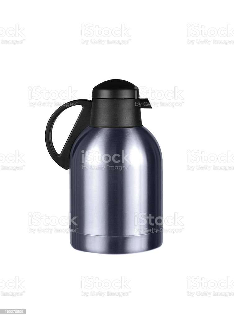 Thermos isolated on a white background stock photo