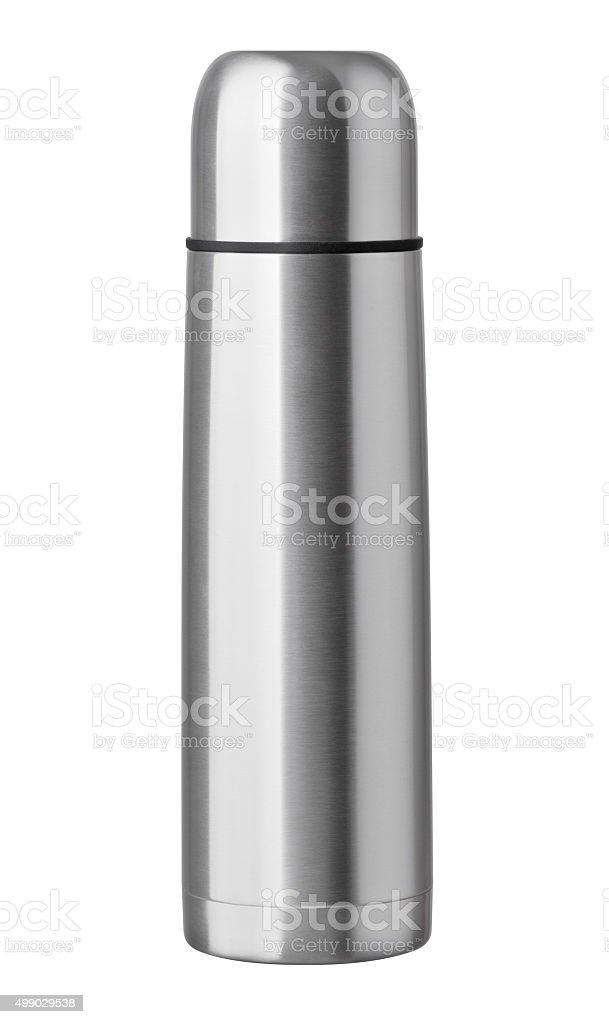 thermos isolated on white background stock photo
