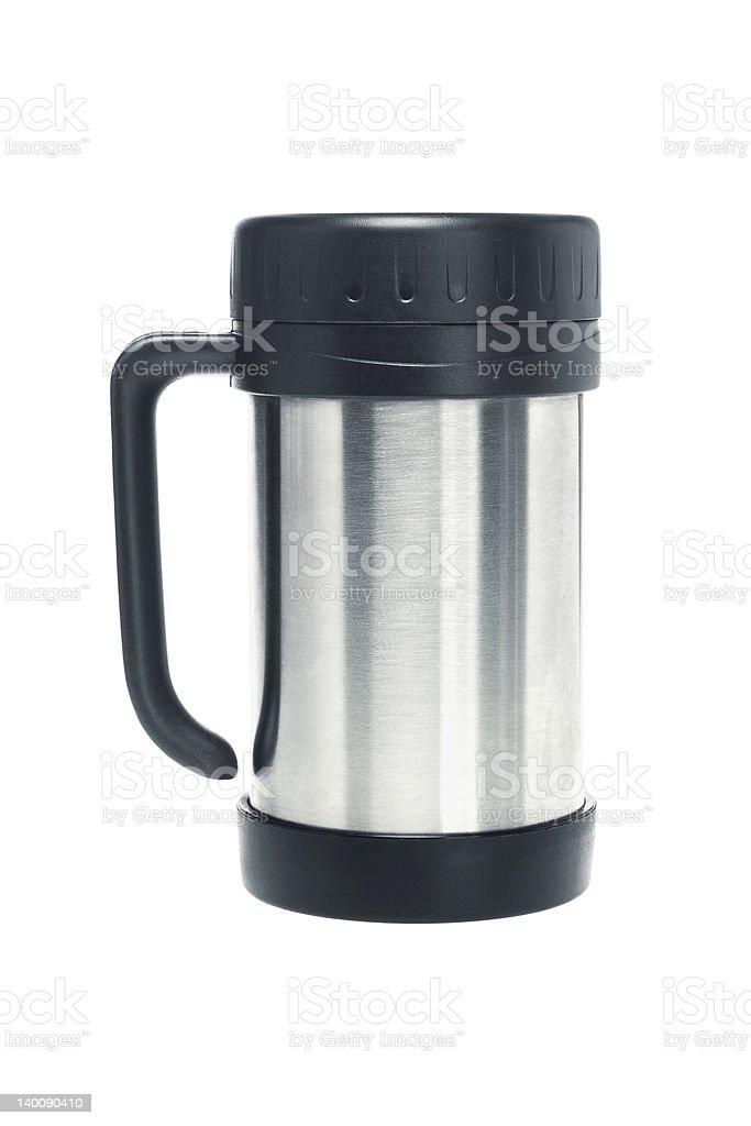 Thermos mug royalty-free stock photo