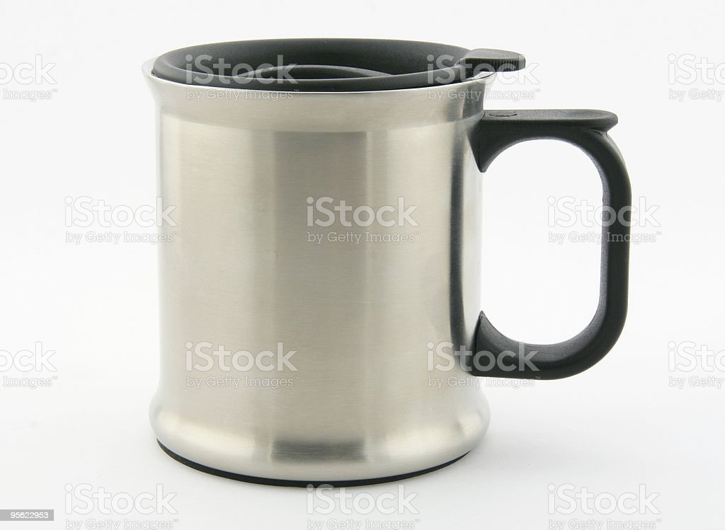 thermos mug stock photo