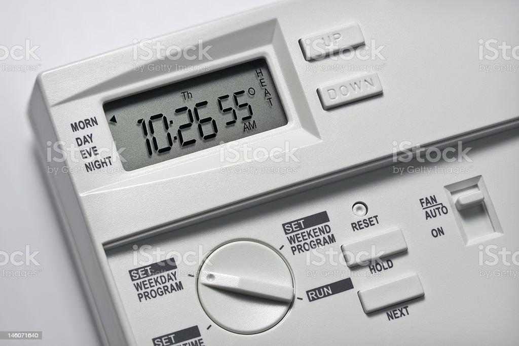 Thermostat 55 Degrees Heat royalty-free stock photo