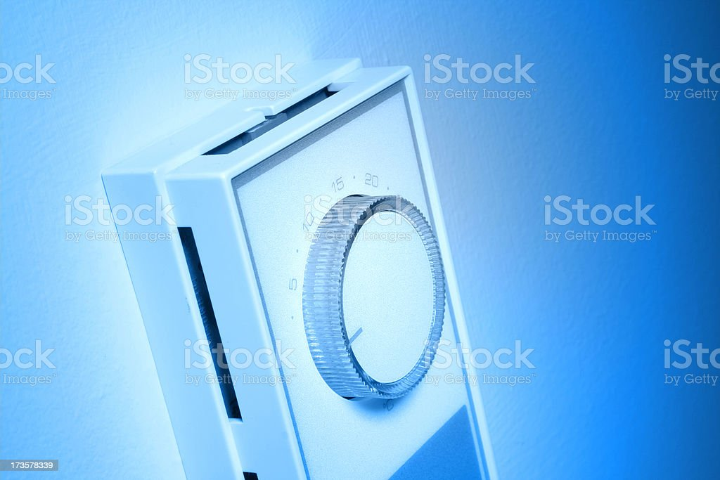 Thermostat COLD royalty-free stock photo