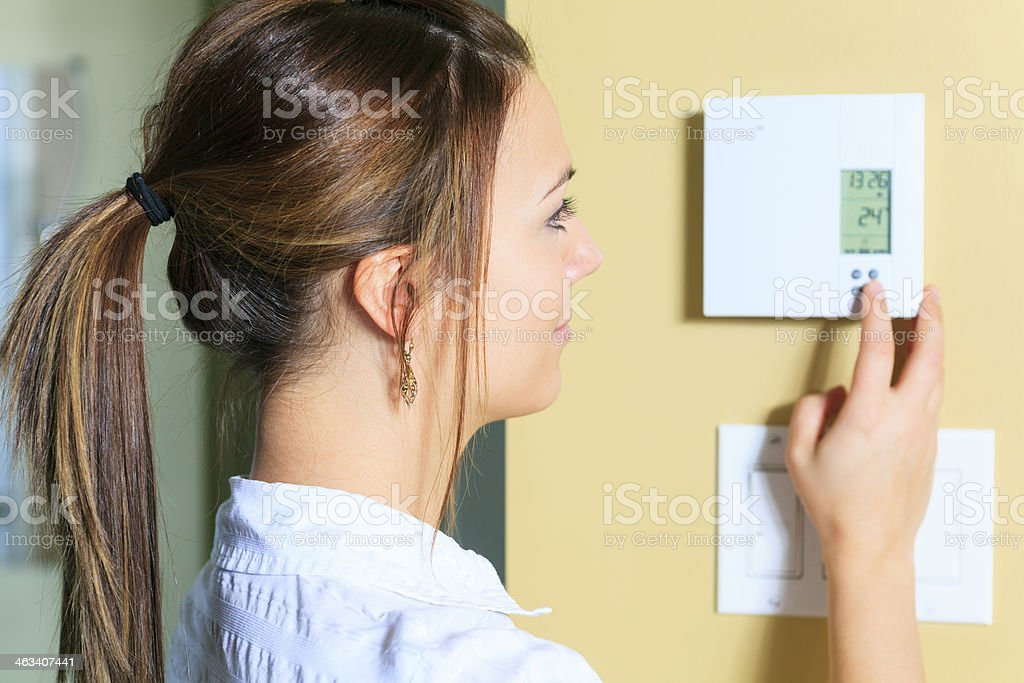 Thermostat - Degree stock photo