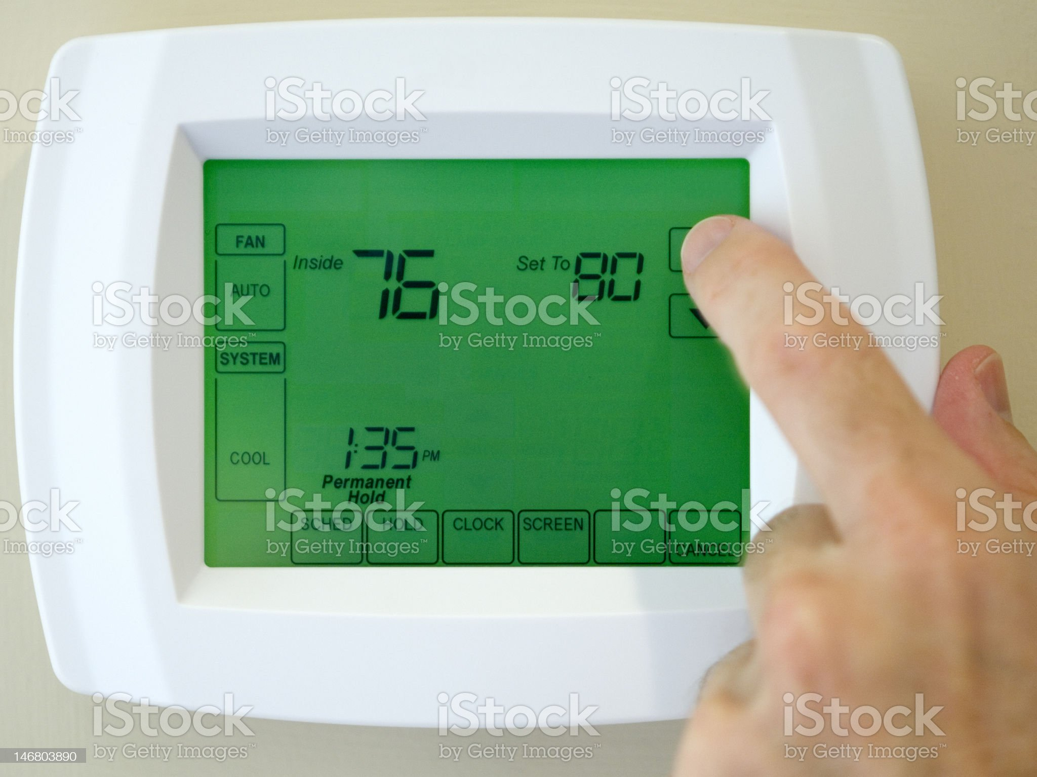 thermostat heater air conditioner royalty-free stock photo