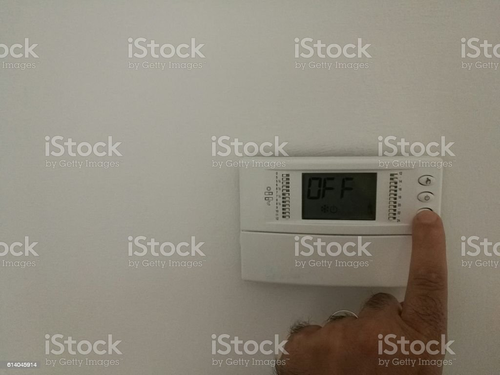 thermostat home stock photo