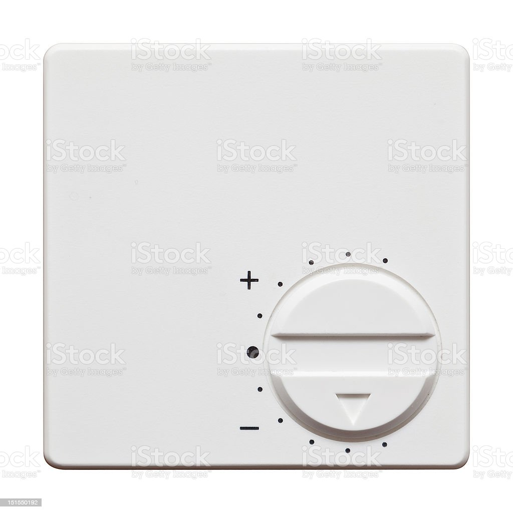 Thermostat isolated royalty-free stock photo