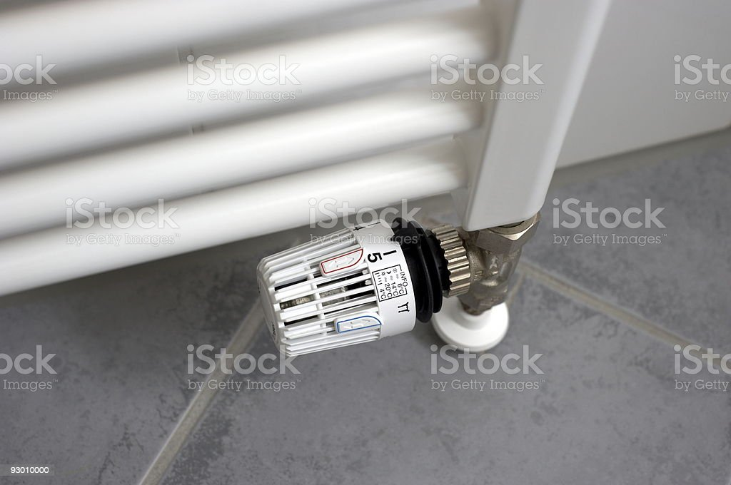 Thermostat Stufe five royalty-free stock photo