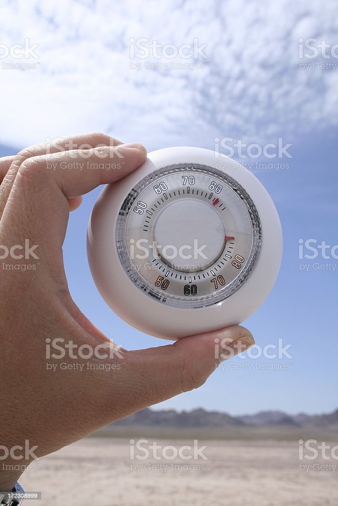 thermostat (outdoor) royalty-free stock photo