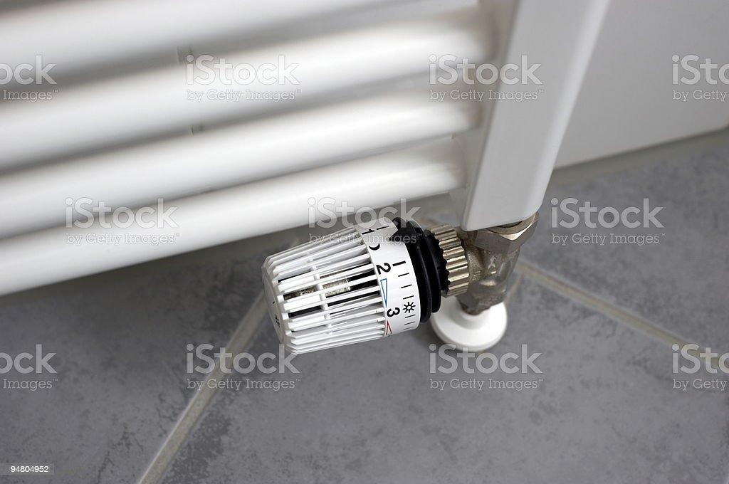 Thermostat set to night mode royalty-free stock photo