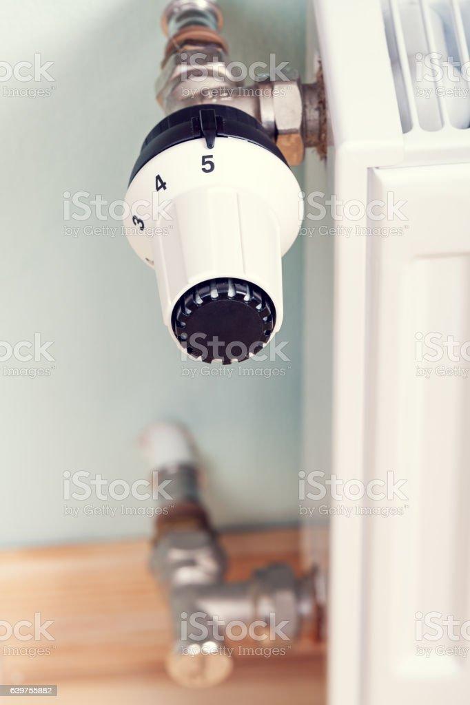 thermostatic radiator valve stock photo
