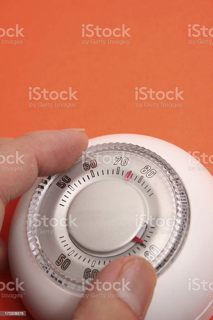 thermostats and thermometer stock photo