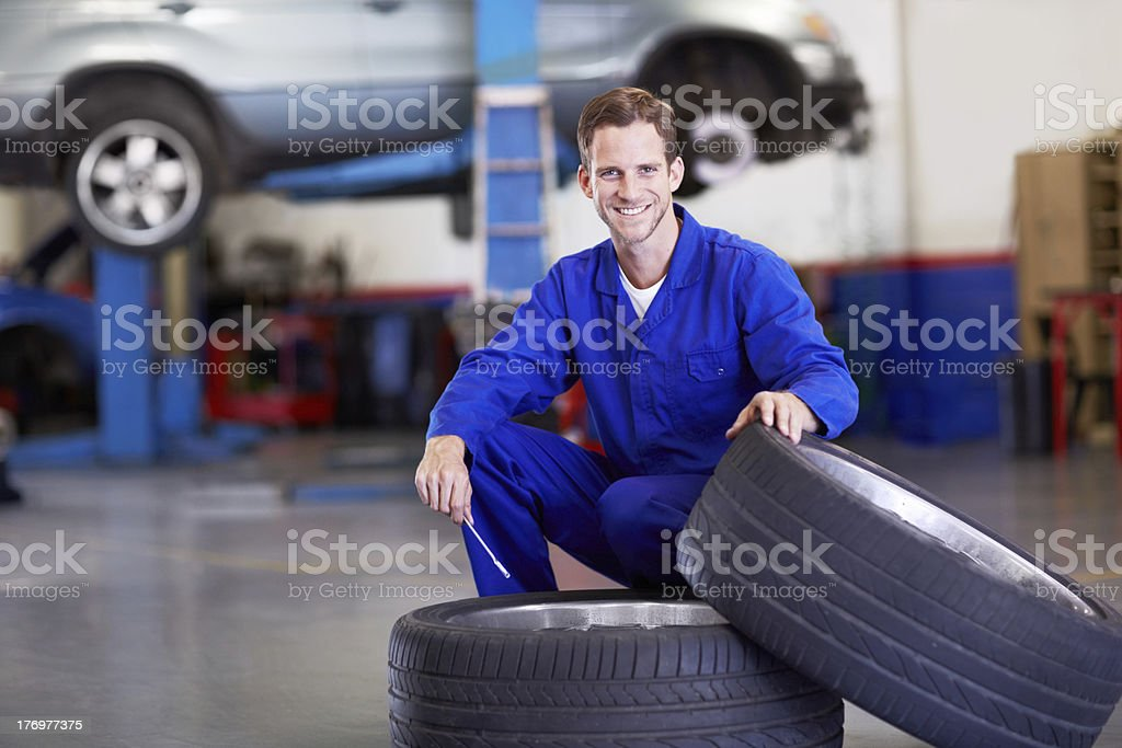 These are excellent tyres! royalty-free stock photo