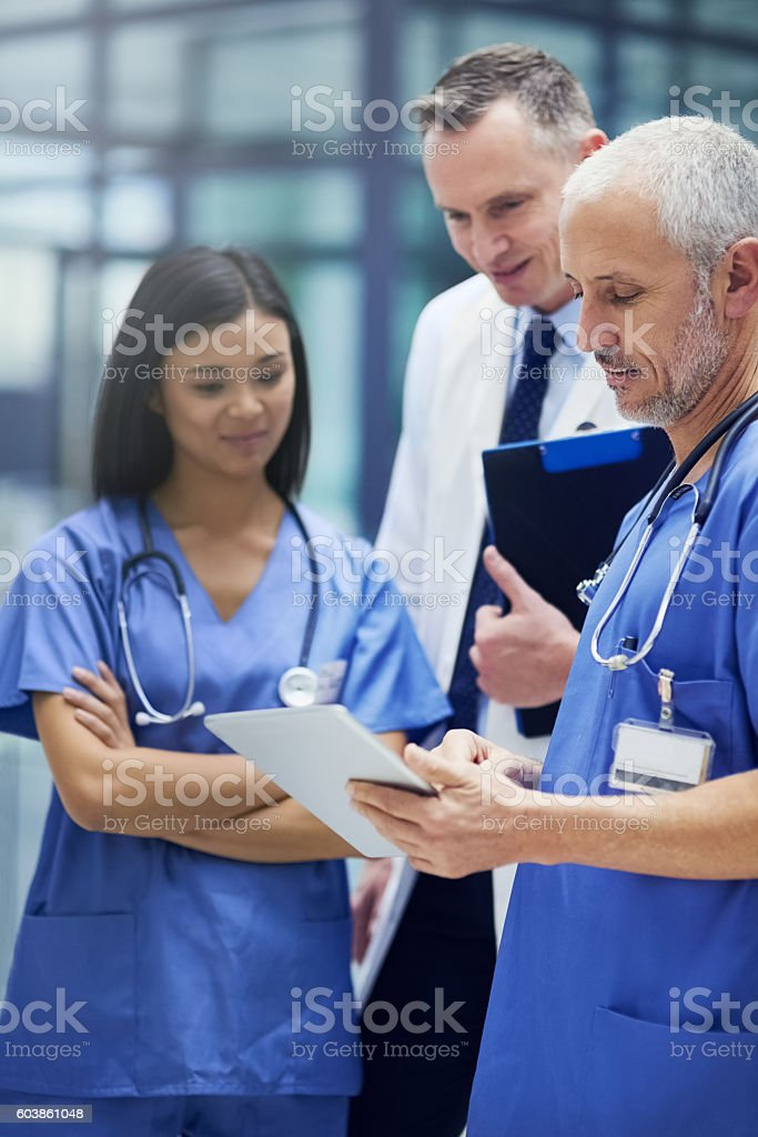 These are some promising results stock photo