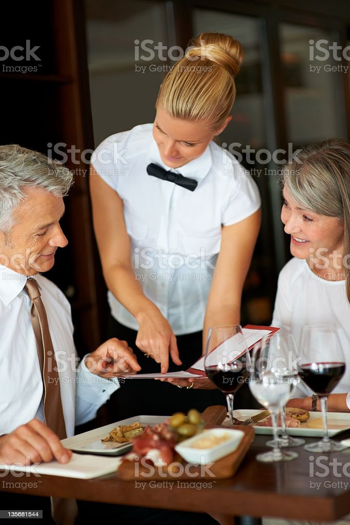 These are the specials, sir! royalty-free stock photo