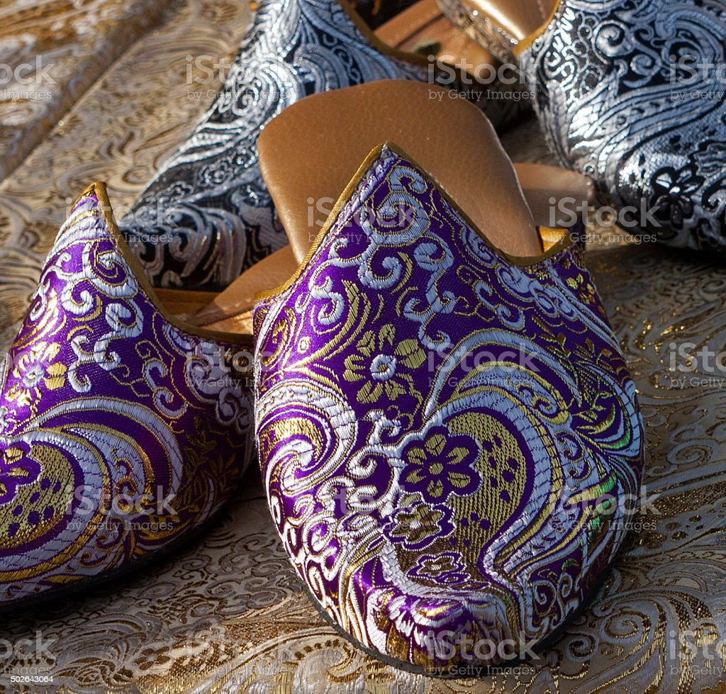 These are very comfortable slippers stock photo