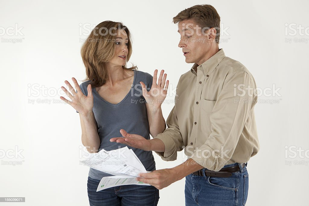 These bills are not my problem! stock photo