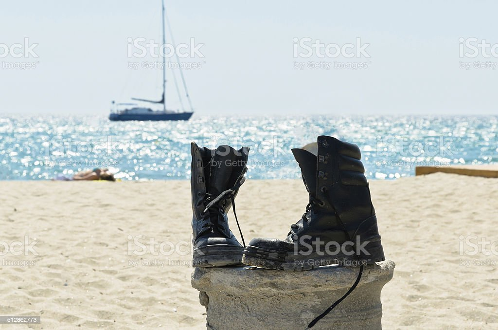 These boots are made for walking! stock photo