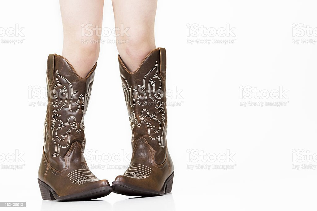 These Boots Were Made for... an adult. stock photo