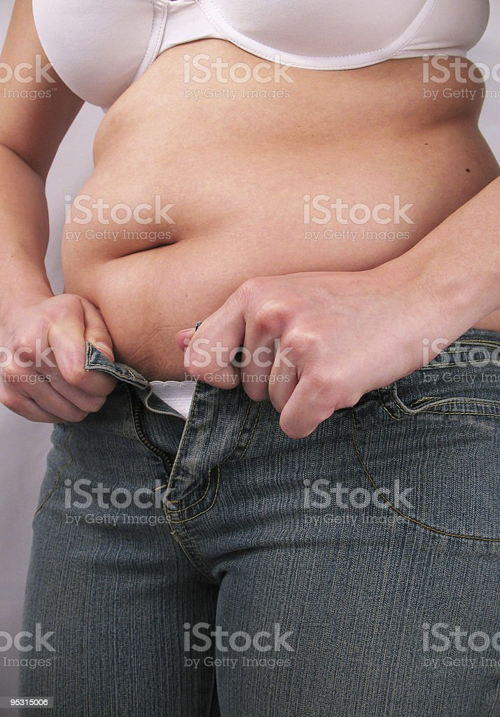 These Jeans Don't Fit Anymore! stock photo