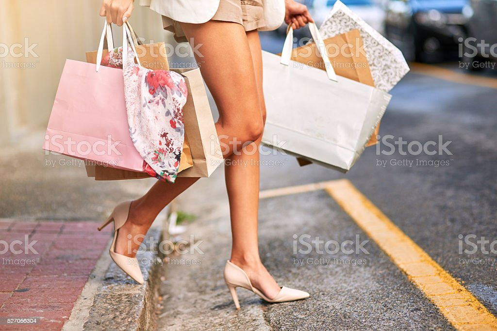 These legs can shop all day stock photo