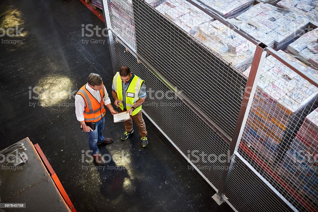 These pallets need shipping today stock photo