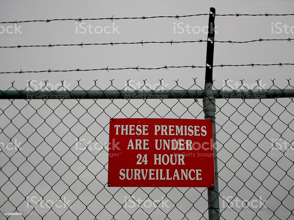These Premises Are Under Surveillance royalty-free stock photo