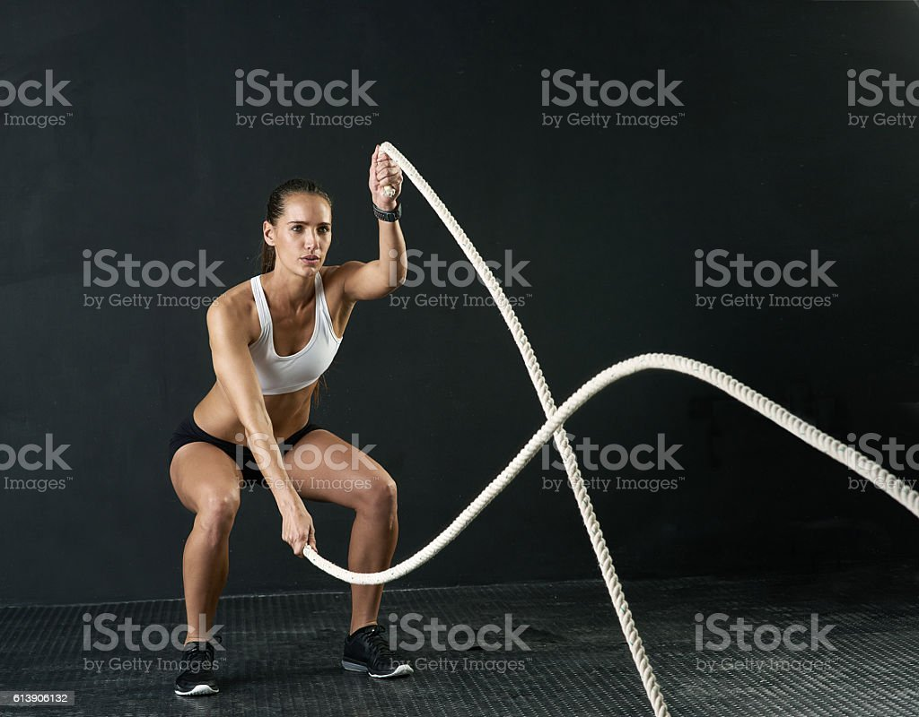 These ropes really are a battle stock photo