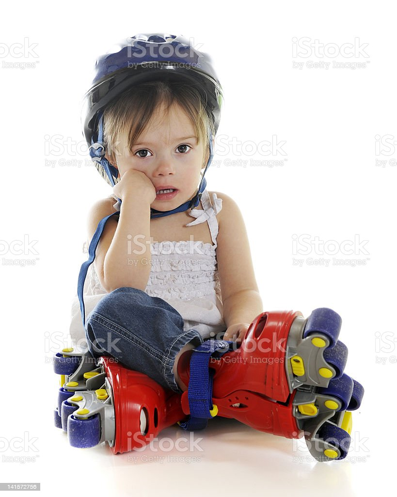 These Skates Made Me Fall! stock photo
