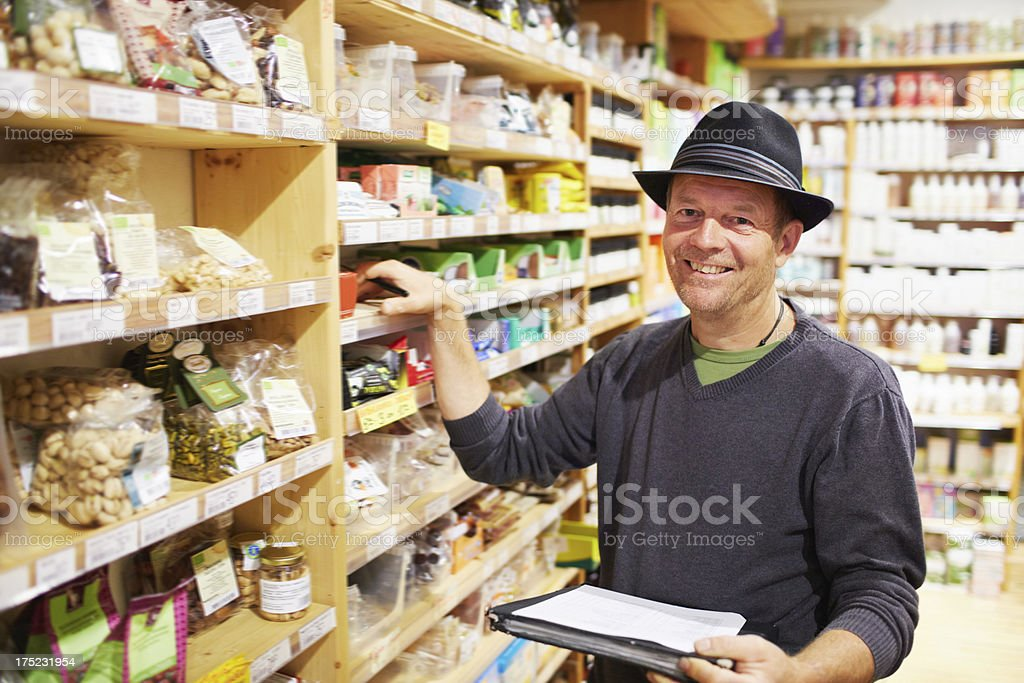These stock levels are looking good! royalty-free stock photo