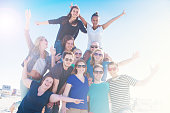 These students are having a great time in St.Peter-Ording, Germany!