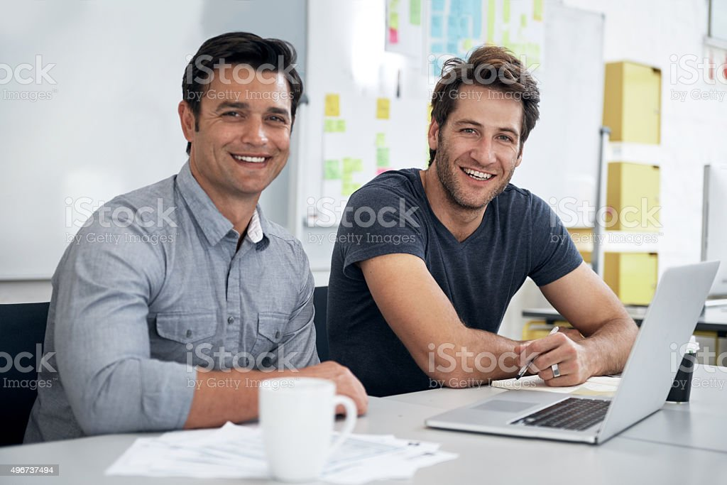These two are never short of new ideas stock photo