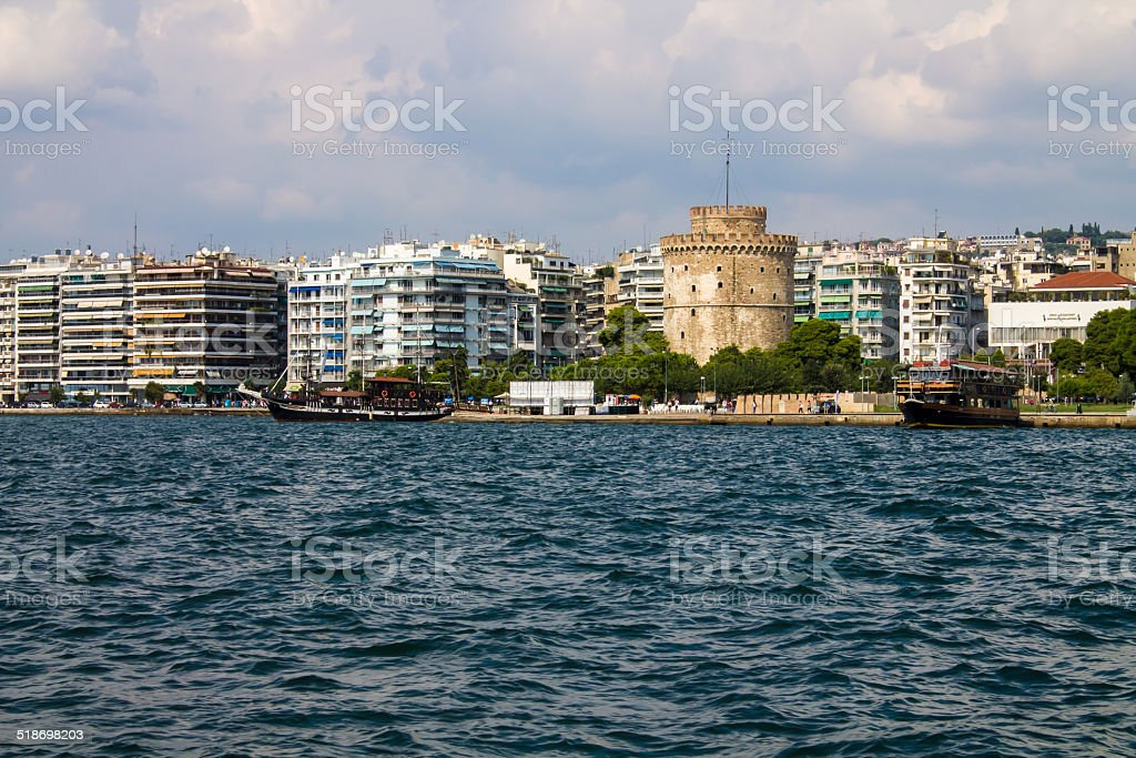 Thessaloniki city stock photo