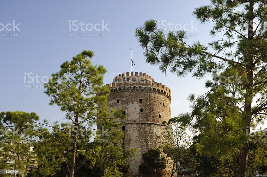 Thessaloniki Landmark - The White Tower stock photo