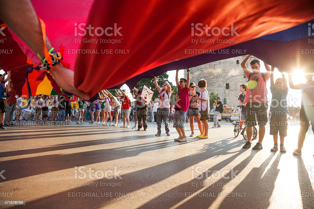 Thessaloniki Pride 2013 - Greece royalty-free stock photo