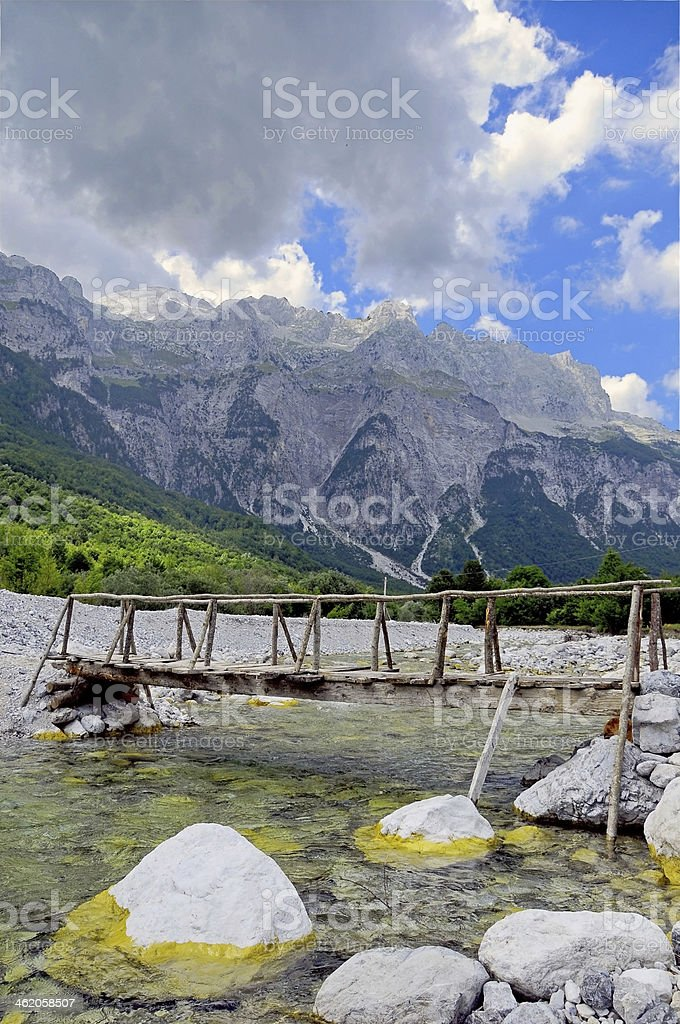Thett Valley. Prokletije Mountains royalty-free stock photo