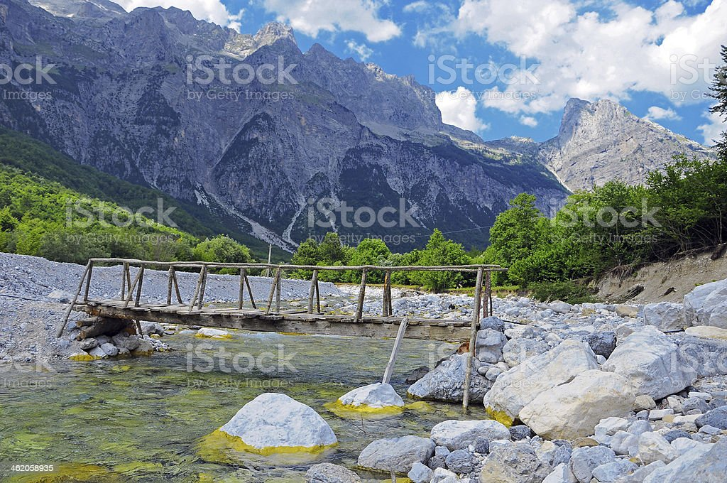 Thett Valley. Prokletije Mountains royalty-free stock photo