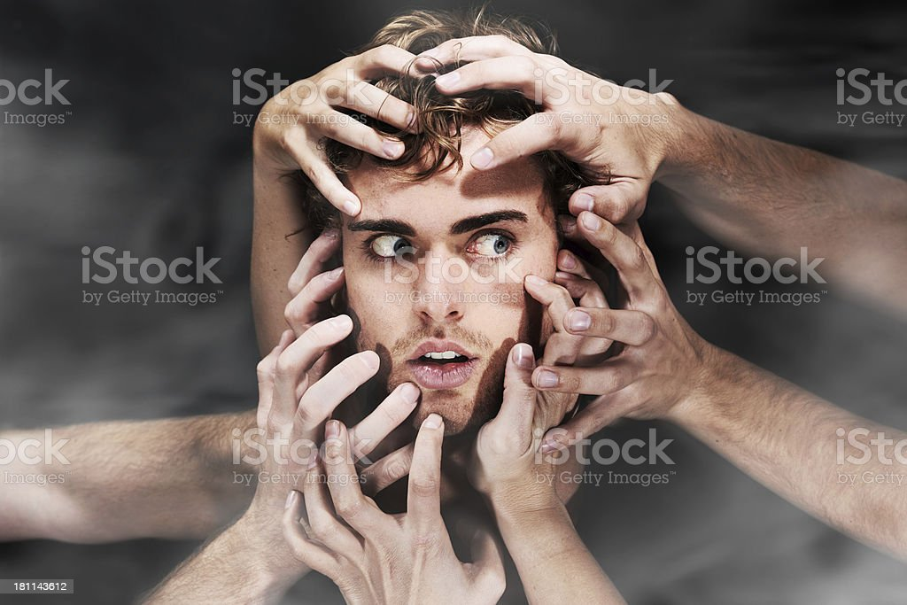 They all want him royalty-free stock photo