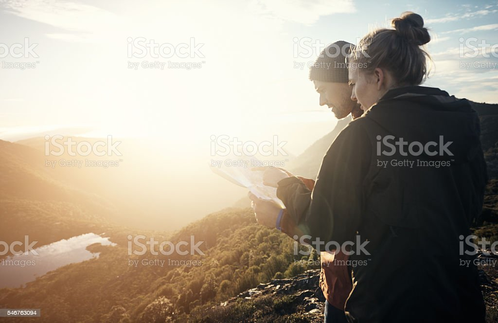 They always know where they are with gps stock photo
