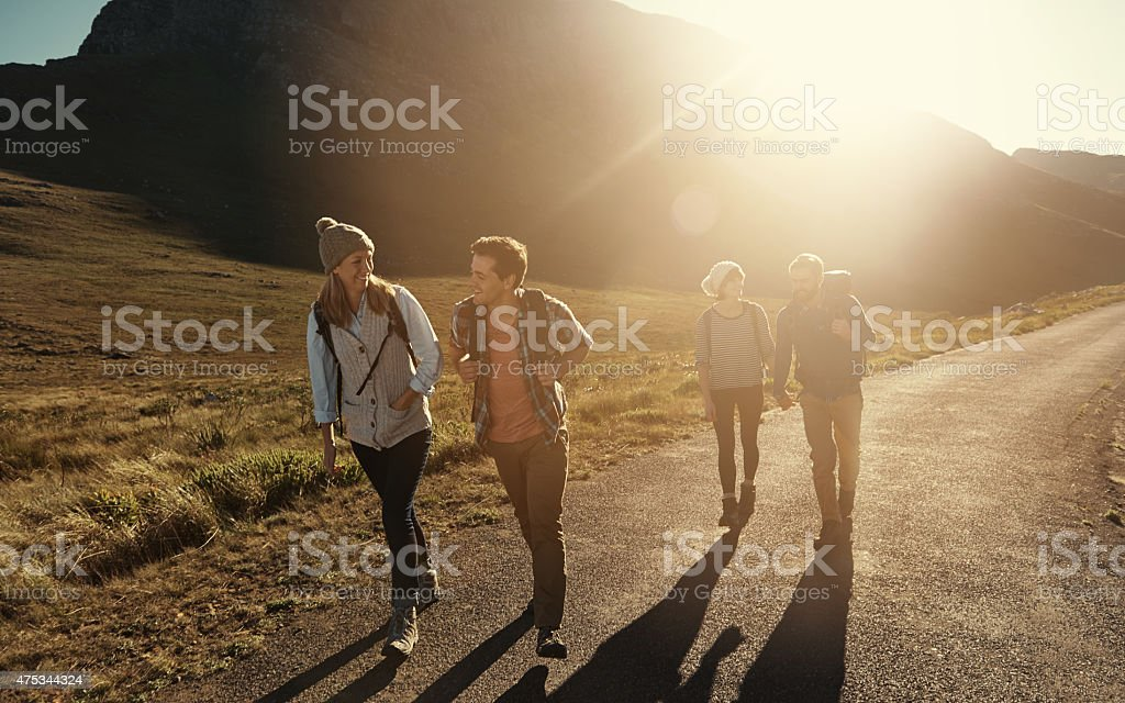 They always take the road less traveled stock photo